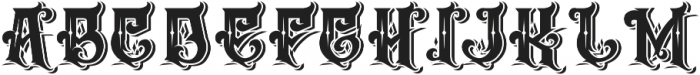 The Empire wars ornament shadow otf (400) Font UPPERCASE
