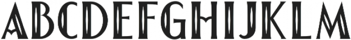 The First Division Inline otf (400) Font LOWERCASE