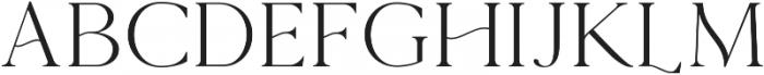 The Florista Serif ttf (400) Font UPPERCASE