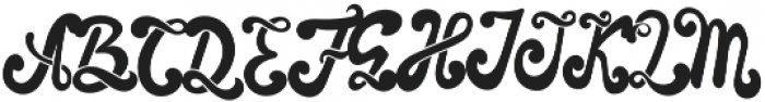 The Foughe Script Regular otf (400) Font UPPERCASE