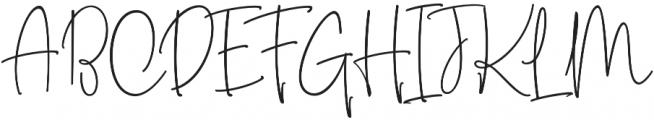 The Fourth Avenue Regular otf (400) Font UPPERCASE