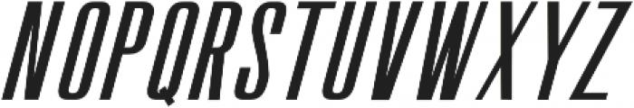 The Fourth Avenue Slant Regular otf (400) Font UPPERCASE