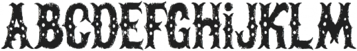 The Freaky Circus otf (400) Font LOWERCASE
