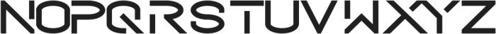 The Future ttf (400) Font UPPERCASE