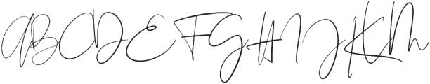 The Girl Script Signature otf (400) Font UPPERCASE