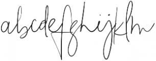 The Girl Script Signature otf (400) Font LOWERCASE