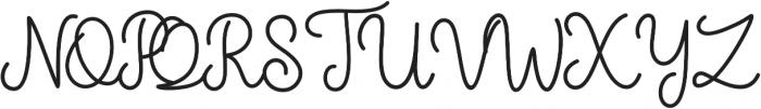The Grateful 1 otf (400) Font UPPERCASE