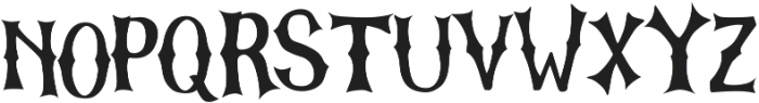 The Graveyard otf (400) Font UPPERCASE