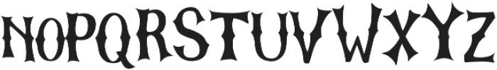 The Graveyard otf (400) Font LOWERCASE