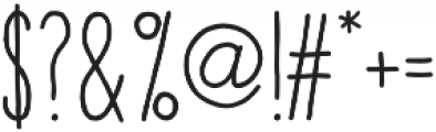 The Hand Bold otf (700) Font OTHER CHARS