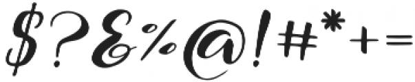 The Hilland Regular otf (400) Font OTHER CHARS
