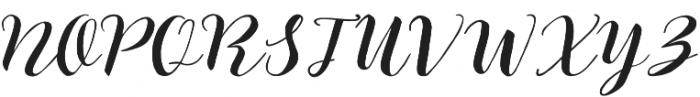 The Hilland Regular otf (400) Font UPPERCASE