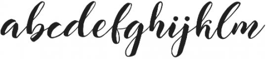 The Hilland Regular otf (400) Font LOWERCASE