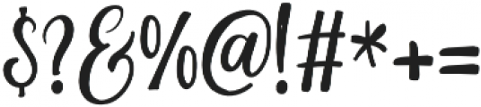 The Hippia Script otf (400) Font OTHER CHARS