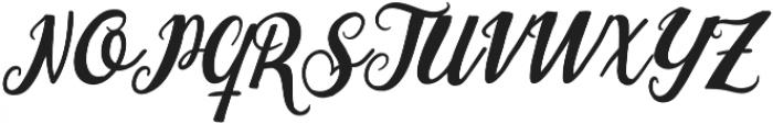 The Hippia Script otf (400) Font UPPERCASE