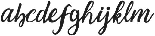 The Hippia Script otf (400) Font LOWERCASE