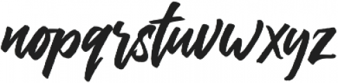 The Historia Solid otf (400) Font LOWERCASE