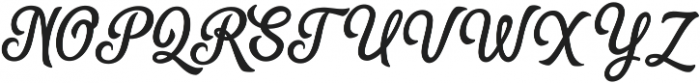 The Humber ttf (400) Font UPPERCASE