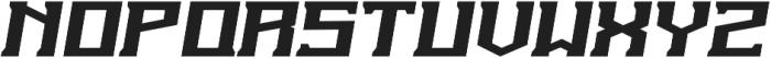 The Insurgent Italic otf (400) Font LOWERCASE