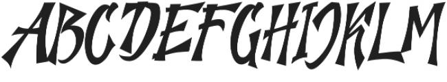 The Jazh Regular otf (400) Font UPPERCASE