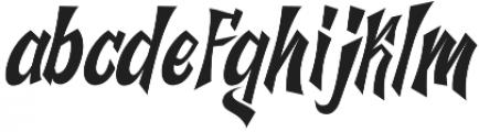 The Jazh Regular otf (400) Font LOWERCASE