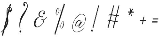 The Live Moment Script Regular otf (400) Font OTHER CHARS
