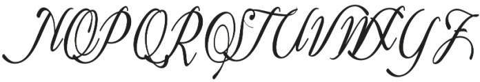 The Live Moment Script Regular otf (400) Font UPPERCASE
