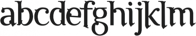 The Luxury otf (400) Font LOWERCASE