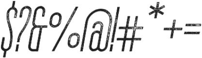 The National Regular - Aged - Oblique otf (400) Font OTHER CHARS