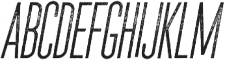 The National Regular - Aged - Oblique otf (400) Font UPPERCASE