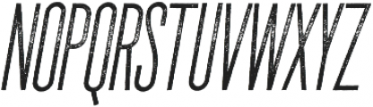 The National Regular - Aged - Oblique otf (400) Font LOWERCASE