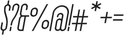 The National Regular - Oblique otf (400) Font OTHER CHARS