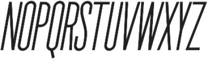 The National Regular - Oblique otf (400) Font UPPERCASE