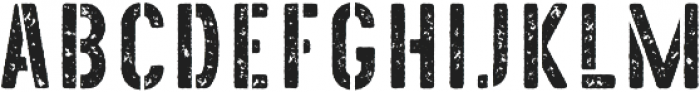 The Old Navy Grunge otf (400) Font UPPERCASE