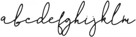 The Pamele otf (400) Font LOWERCASE