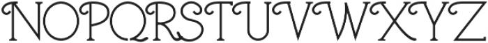 The Pinta otf (400) Font UPPERCASE