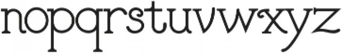 The Pinta otf (400) Font LOWERCASE