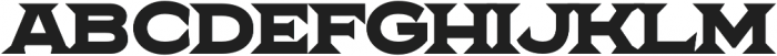 The Pretender Expanded Serif Bold otf (700) Font UPPERCASE