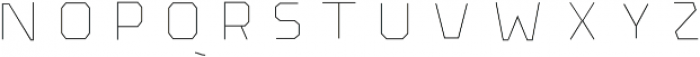 The Pretender Inline Bold otf (700) Font UPPERCASE