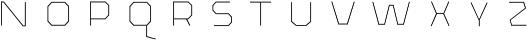 The Pretender Inline Bold otf (700) Font LOWERCASE
