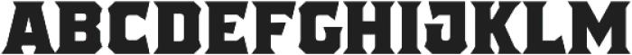 The Pretender Medium Serif otf (500) Font UPPERCASE