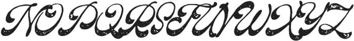 The Pretender Script Pressed otf (400) Font UPPERCASE