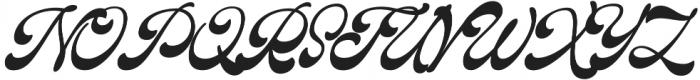 The Pretender Script otf (400) Font UPPERCASE