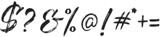 The Redlight Stylistic otf (300) Font OTHER CHARS