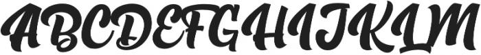 The Rughton Script otf (400) Font UPPERCASE