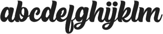 The Rughton Script otf (400) Font LOWERCASE