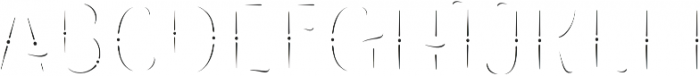 The Salvador Inline otf (400) Font UPPERCASE