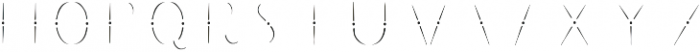 The Salvador Inline otf (400) Font LOWERCASE