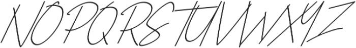 The Sayinistic Italic otf (400) Font UPPERCASE
