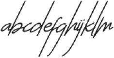 The Sayinistic Italic otf (400) Font LOWERCASE